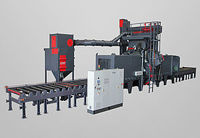 Picture of Roller conveyor blast machine for weldments RRBK