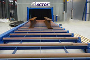 Picture for category AGTOS Roller conveyor blast machine
